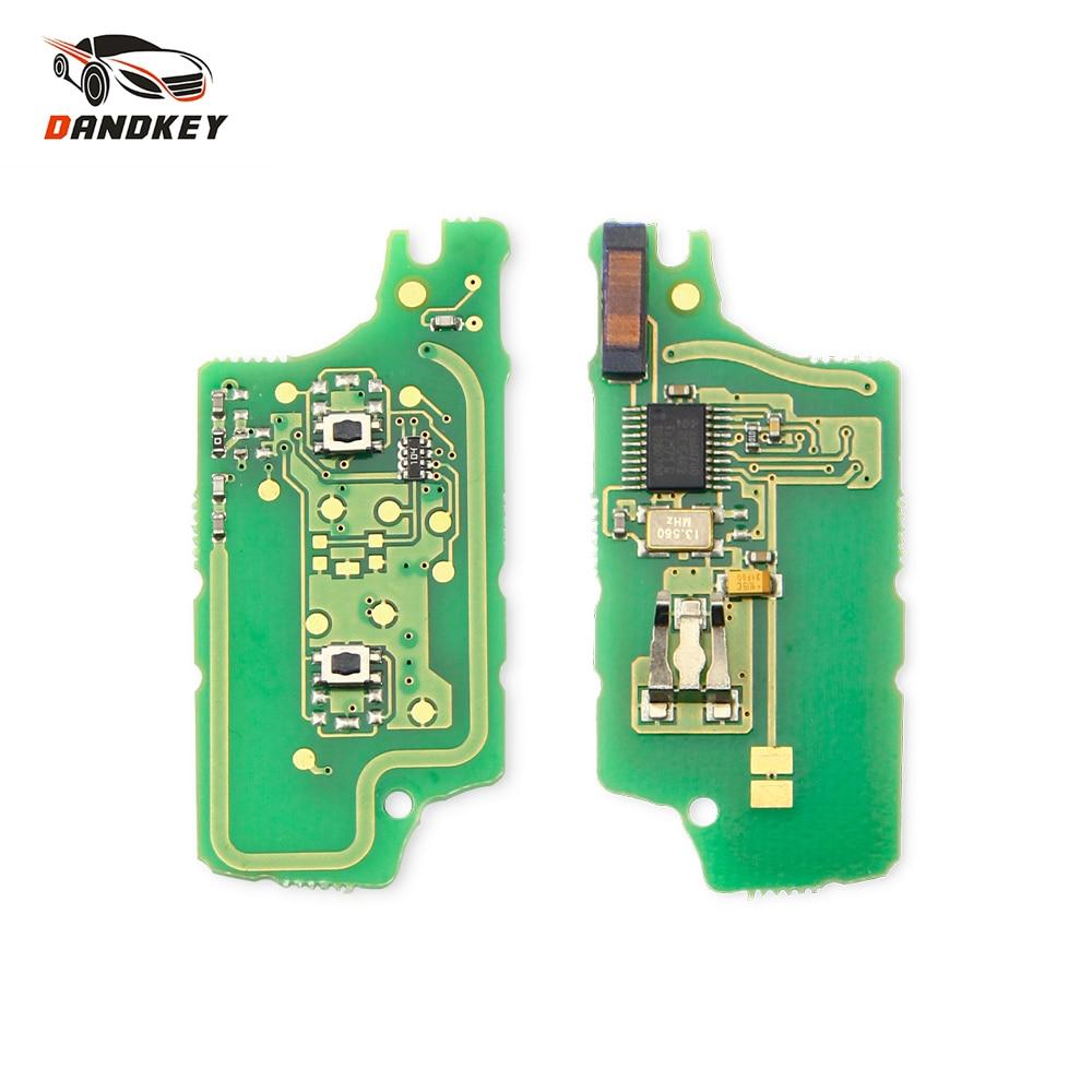 Dandkey дистанционный ASK/FSK ключ печатная плата ID46 чип для Peugeot 207 307 308 407 607 807 для Citroen C2 C3 C4 C5 C6 CE523/CE536