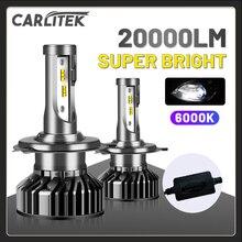 CARLITEK H4 H11 H7 Led Scheinwerfer Mini 6000K 20000LM H8 H9 9005 9006 Auto Lampe Für Auto HB4 HB3 glühbirnen Auf Auto Universal Turbo