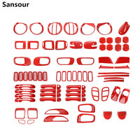 Sansour Car Front Grille Head Tail Light lamp Door Handle Decoration Cover Sticker for Jeep Renegade 2015 Up Exterior Accessorie