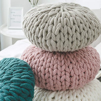 Reine hand woven dicken faden kissen sofa kissen kreative hause dekoration sitzen kissen DIY stricken-in Kissen aus Heim und Garten bei
