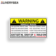 SLIVERYSEA 10CM*6CM Car Styling Safety Warning Rules Stickers Vinyl JDM and Decals