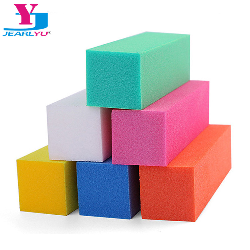 5pcs/lot Colorful Buffing Sanding Nail Buffer Block Files Acrylic Sponge Files Pedicure Manicure Care Nail Art Tips Salon Tools