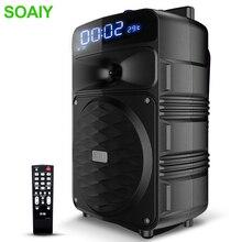 T50 Bluetooth Trolley Lautsprecher Große Volumen Audio Home Party Leistung Subwoofer Außen Mobilen Lautsprecher Unterstützung Wireless Mic