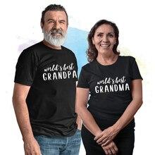 GrandMA GrandPA T Shirt Word's Best Grandpa/grandma Graphic Tshirt Casual Short