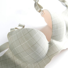 No steel ring bra, one piece of plaid, girl style underwear, gathers no trace, small chest, big sexy beehive, womens underwear
