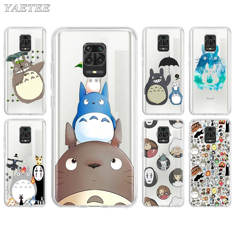 Anime Totoro Ghibli Spirited Away Phone Case For Xiaomi Redmi Note 8 Pro 8T 9S 9 Pro 6 7 6A 7A 8A K20 K30 10X Pro 5G Cover