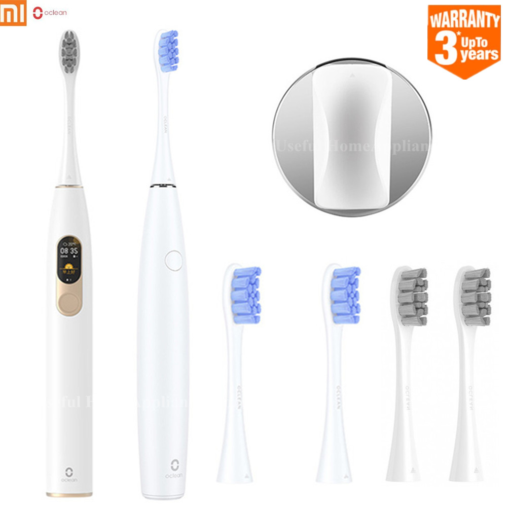 2019 Original Oclean SE Oclean X Rechargeable Sonic Electric Toothbrush APP Control With 2 Brush Heads + 1 Wall Holder For Adult
