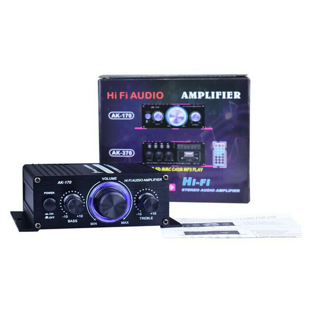 LED AMP Amplificador Home Theater USB TF Card Player 6