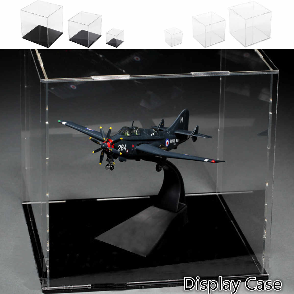 Acrylic Assembly Transparent Display Case Model Building Kits Toy Anime Action Figure Military  Showcase Adults Toys Box