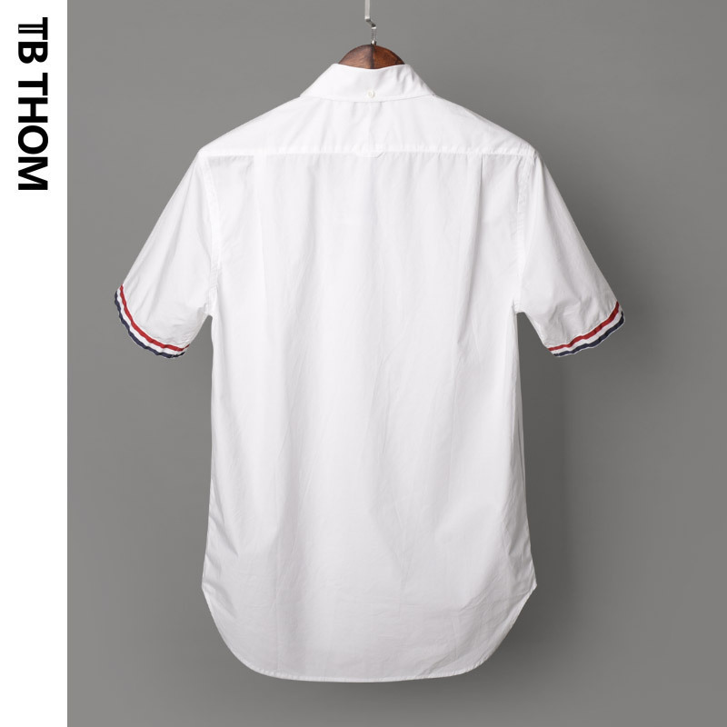 2020 Men's Short Sleeve White With Pocket Summer Poplin Men Thin Casual Shirts For Male