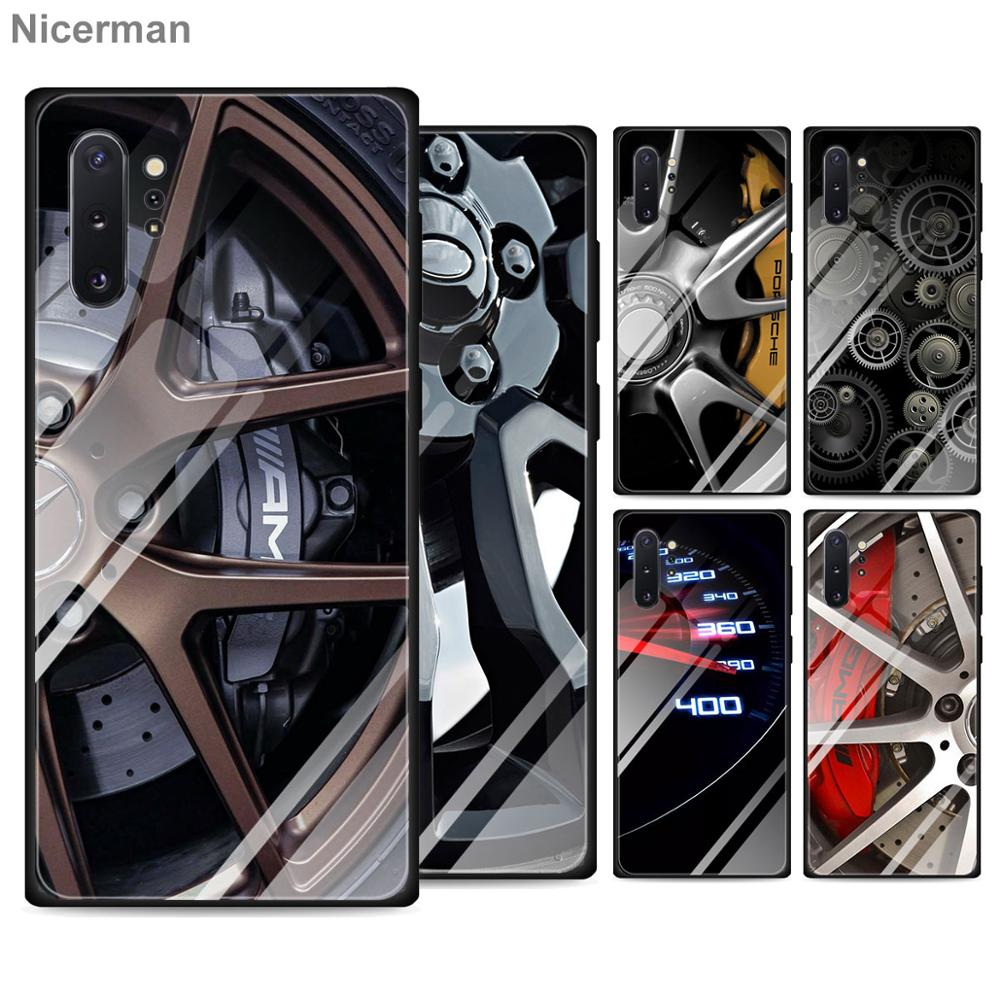 Motorsport AMG Tire Tempered Glass Cases for <font><b>Samsung</b></font> Galaxy S10 S20 Ultra S8 S9 Plus <font><b>S10e</b></font> Note 9 10 Plus A50 A30 Cover Coque image