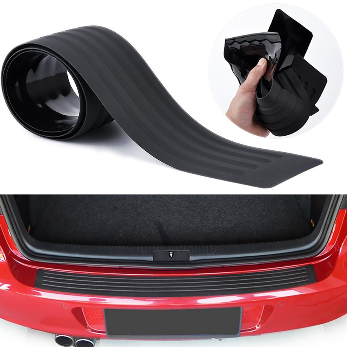 Защита для заднего бампера автомобиля, универсальная черная резиновая защита от царапин для входной двери багажника, аксессуары, Накладка ...