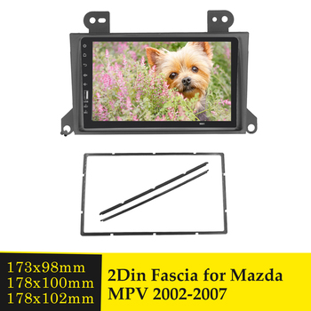 Double Din Car Fascia Stereo Audio Refitting Frame Dash Radio Bezel DVD Player Panel Installation Kit for MAZDA MPV 2000-2007 image