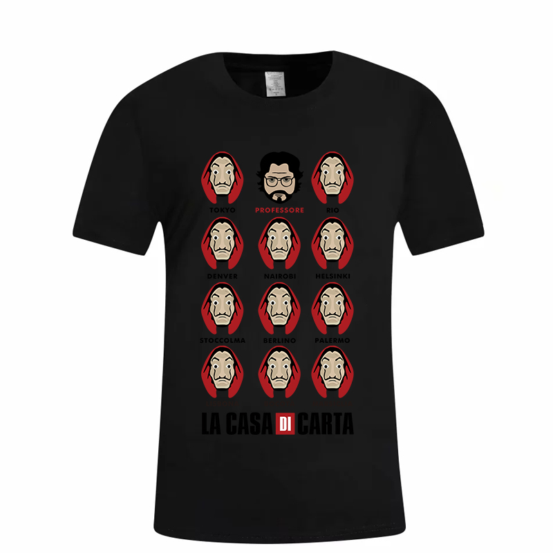 Hillbilly Money Heist Tees TV Series Tshirts La Casa De Papel Women Tshirt The House of Paper Camiseta T Shirt