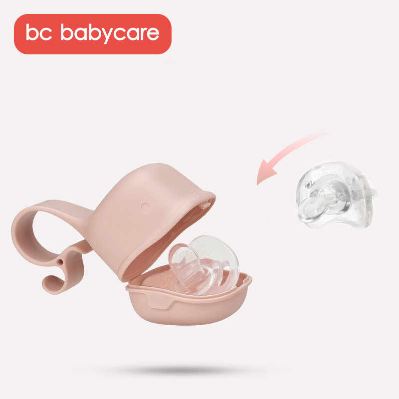 BC Babycare Portable Baby Pacifier Nipple Box Dustproof Cute Shark-Shaped Travel Pacifier Snack Storage Box Safe PP Holder Case