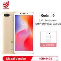 "Version mondiale Xiaomi Redmi 6 4 go 64 go Smartphone Helio P22 Octa Core Smartphone 12MP + 5MP double caméras 5.45 ""18:9 plein écran"
