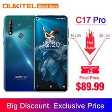 OUKITEL C17 Pro 6,35 ''Android 9,0 19:9 MT6763 4 Гб 64 Гб Смартфон Face ID Octa Core 3900 мАч Тройная камера 4G мобильный телефон