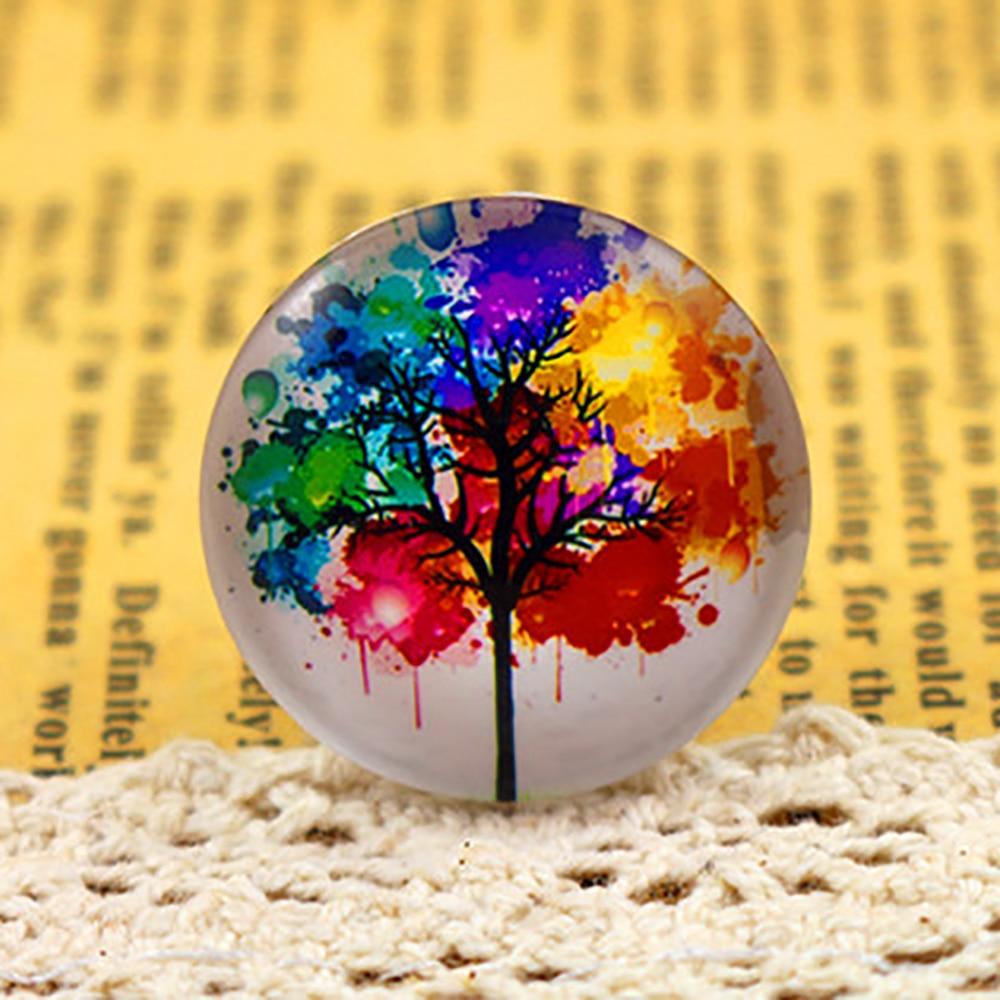 New Fashion  5pcs/Lot 25mm Tree Of Life Style Handmade Photo Glass Cabochons