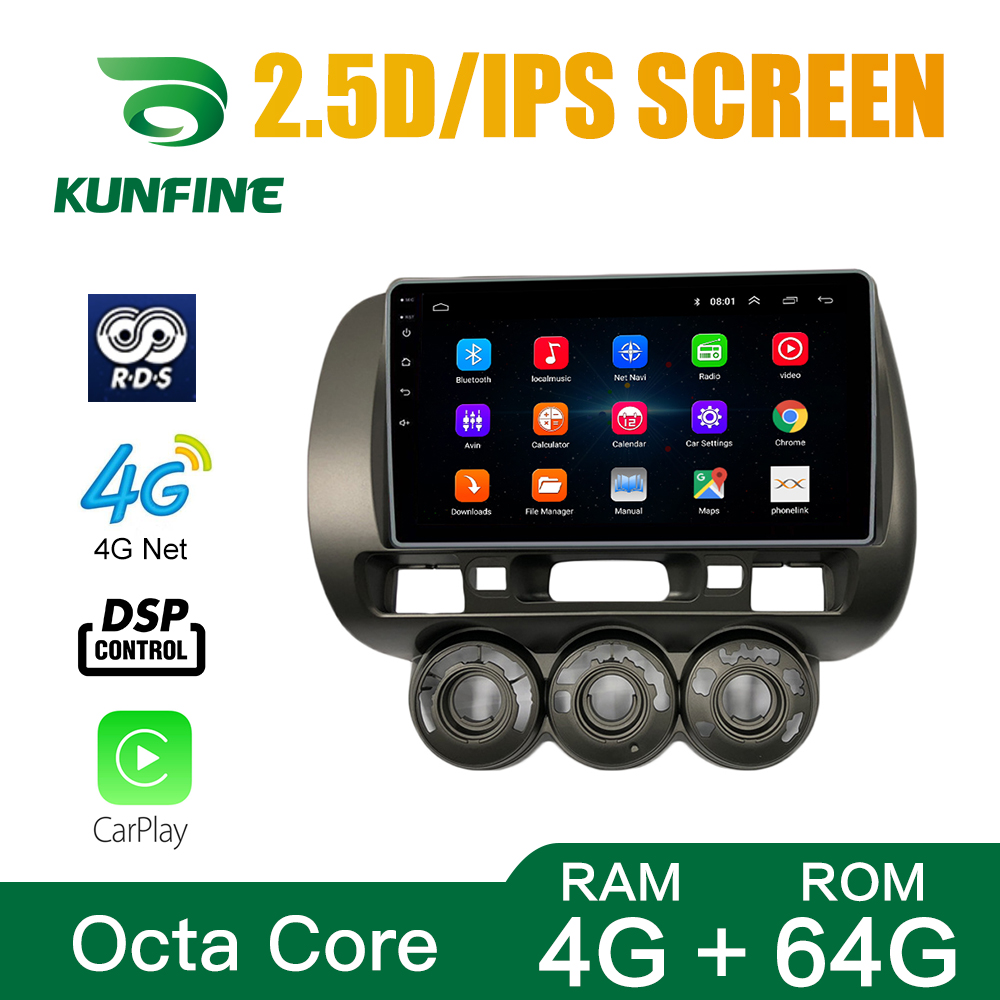 Car Radio Honda FIT <font><b>CIVIC</b></font> 04-07 Everus S1 Octa Core Android 10.0 Car DVD GPS Navigation Player Deckless Car Stereo Headunit Wifi image