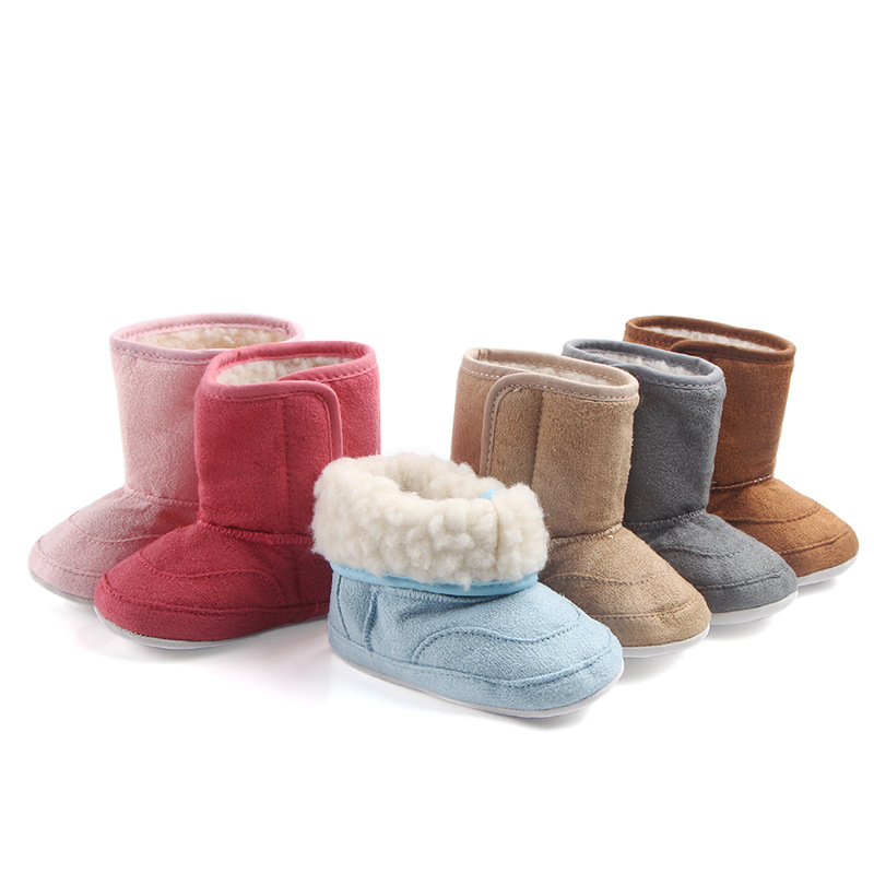 US $3.98 |Spring and Autumn winter0 1 years old men and women baby plus velvet warm snow boots soft bottom shoes baby toddler shoes First in First