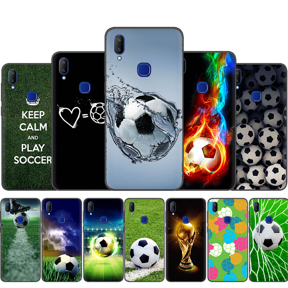 Football Sports Silicone Phone <font><b>Case</b></font> for <font><b>VIVO</b></font> Y53 Y55 Y81 V5 V7 V9 V11 V15 Pro Y17 Y69 <font><b>Y71</b></font> Y91 Y93 Y66 X9 Y11 U3 Y5S image