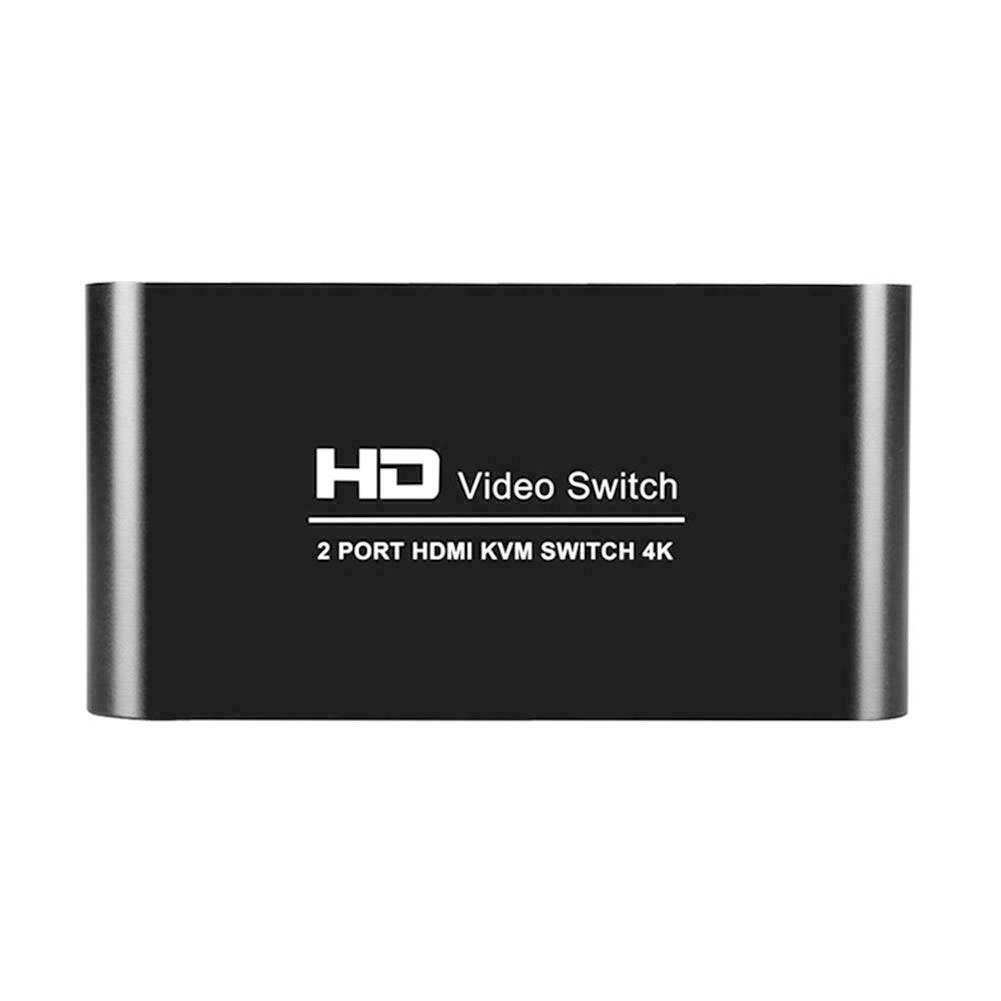 2 Port Multimedia For Sharing Monitor HDMI Switcher Splitter KVM 4K Mice Mini Keyboard Mouse Video Home Professional Audio