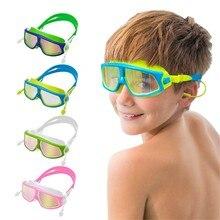 Профессиональные прозрачные плавательные очки Анти-туман УФ детские спортивные очки плавательные очки с футляром зажимы для носа затычки для ушей# D