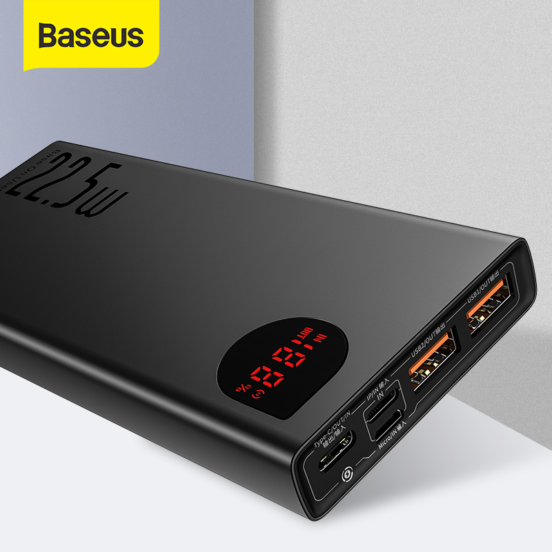Baseus 20000mAh Power Bank with PD3.0 Fast Charging For iPhone Quick Charge 4.0 Supercharge Powerbank For Xiaomi Samsung|Power Bank| |  - title=
