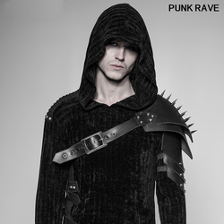 Стимпанк дворец из искусственной кожи, металлические заклепки, конус, рука гвоздя, броня, панк-рок, косплей, пиратский, крутой рукав, панк, Ре...