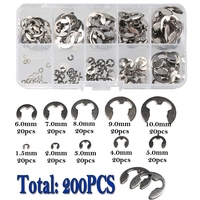 120/200/550 adet 1.5/2/3/4/5/6/7/8/9/10mm e-klips halka yapış İstinat segman seti paslanmaz çelik karbon çelik E tipi klipleri