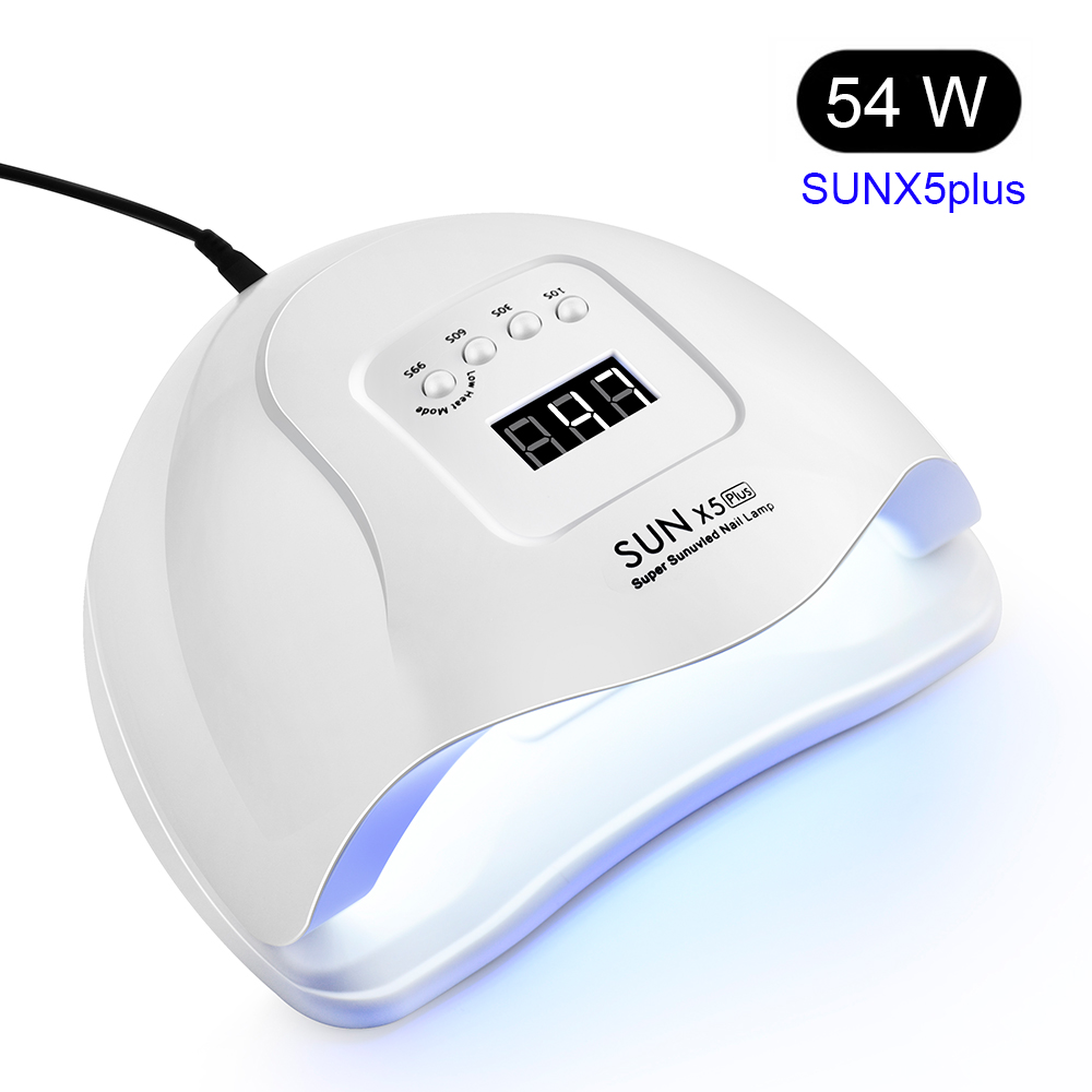 SUNX5 54/36/6W UV LED Nail Lamp Manicure Nail Dryer For All Gels Polish Sun Light Infrared Sensing 30/60/99s Timer LCD Display