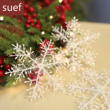 3pcs 11cm Christmas Tree Decorations Snowflakes White Artificial Snow Christmas Decorations for Home new year christmas gifts@2(China)