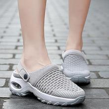 Buty kobieta sandały na platformie sandały lekkie oddychające sportowe sandały Laides platformowe buty pantofle damskie casualowe sandały tanie tanio shengmiao Mesh (air mesh) Podstawowe Mieszkanie z NONE Pokryte RUBBER Med (3 cm-5 cm) 0-3 cm Na co dzień Gumką Pasuje prawda na wymiar weź swój normalny rozmiar