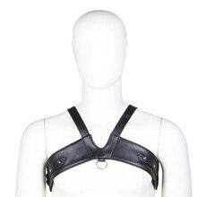 Men Erotic Tank Lingerie Vest PU Leather Flirting Bondage Sexy Harness Gay Man Underwear Tops Nightwear Temptation Sex Wear