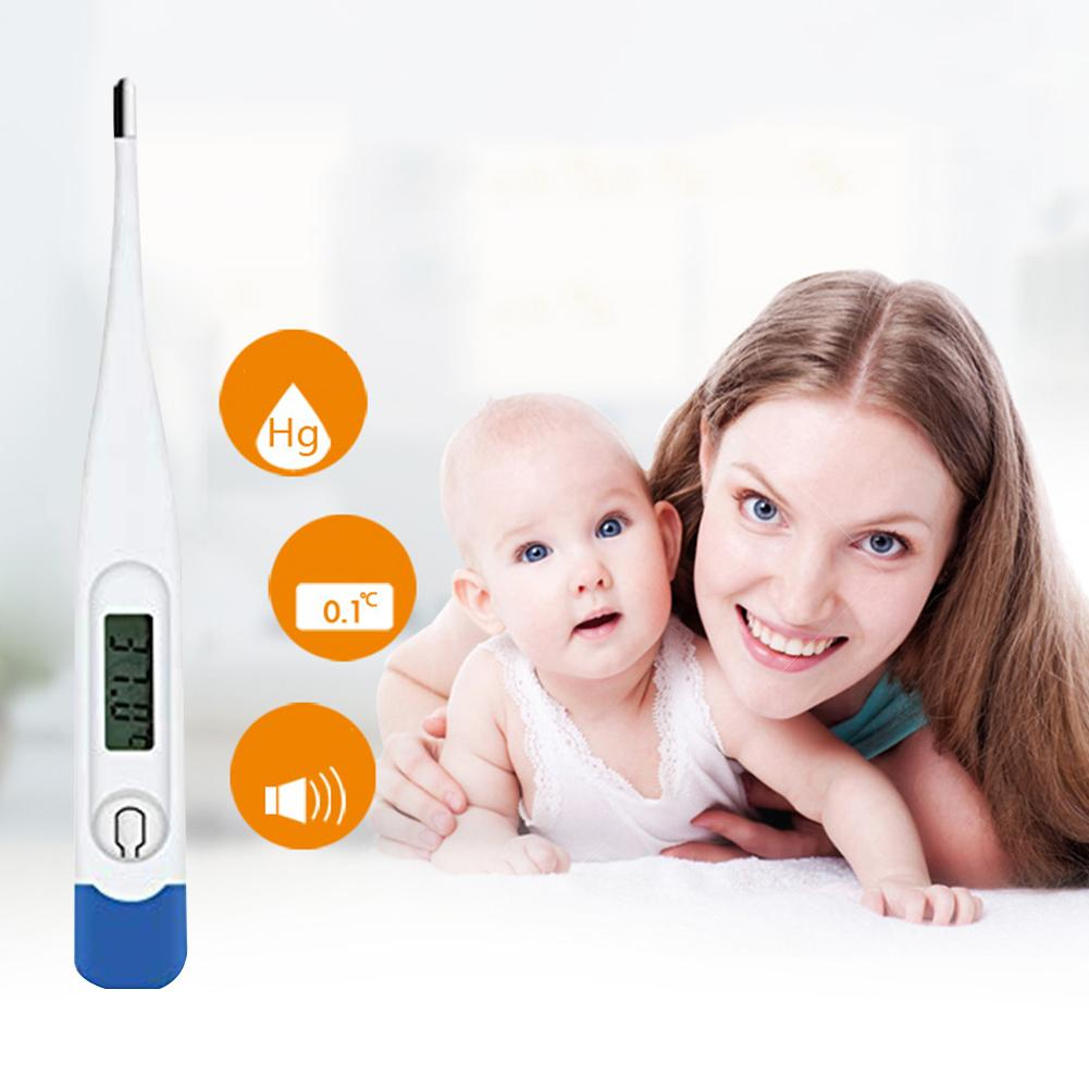 Kids Household LCD Digital Thermometer Electronic Thermometer Hard Head Thermometer Armpit Body Temperature Measurement Tool