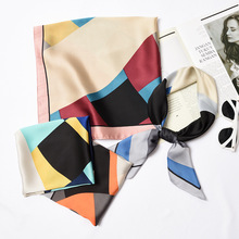 New 70*70cm ladies small squares multi-color pieces temperament small neck scarf tied bag decorative hair band