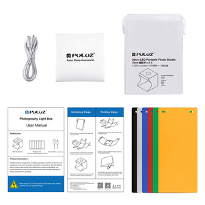 Image 5 - Folding Portable Photo Studio Box Dual LED Panels Photography Softbox with 6 Backdrops  light box Studio Shooting Tent Box Kit