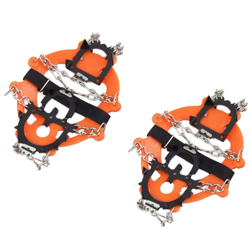 Crampons 12 Teeth Anti Slip Ice Snow Traction Cleats Crampons Ice Snow Grippers Spikes For Shoes Winter Skidproof Crampons