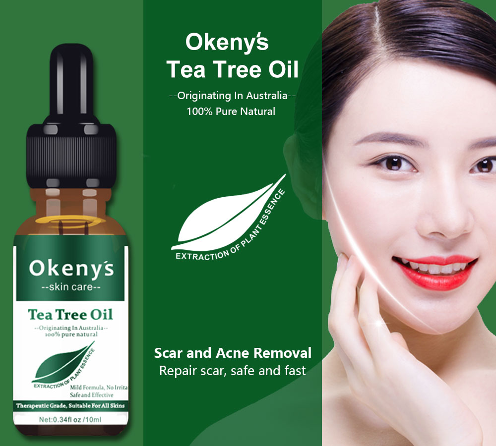 Natural Tea Tree Essential Oil Anti-wrinkle Acne Pores Removal Scars Treatment Anti Scar Spots Skin Care Oil Control Blackhead