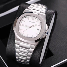 HOt Sale watch mens mechanical watches sapphire glass blue dial stainless steel bracelet sports Glide sooth second hand w