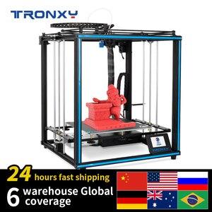 2020 tronxy x5sa 24v nova atualizado 3d impressora kits diy placa de construção metal 3.5 polegadas lcd tela toque alta precisão auto nivelamento
