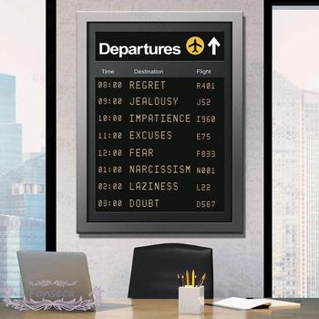 Nordic Departures and Arrivals Poster and Print Creative Minimalist Motivational Wall Art Canvas Painting Aesthetic Room Decor image