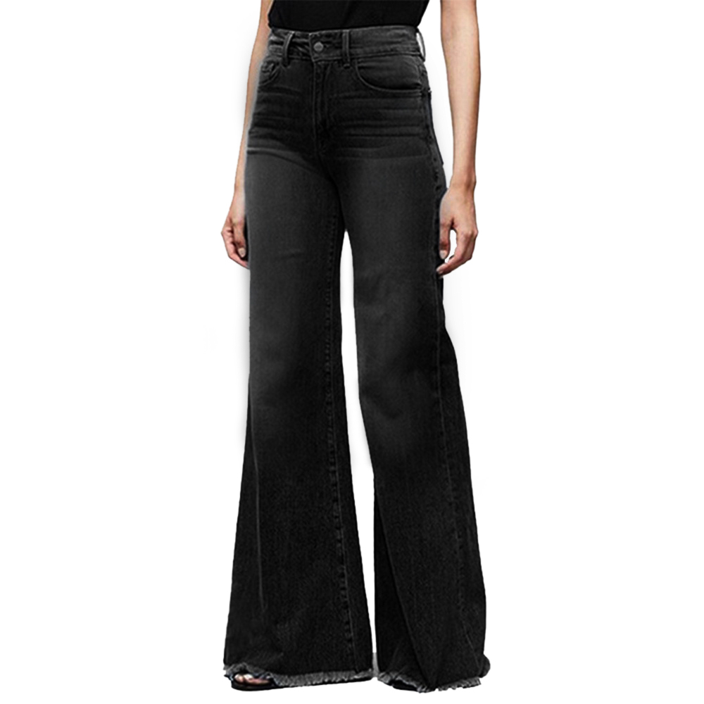 Wide Leg Women Jeans Straight Mom Jeans Washed Denim Pants Plus Size 4XL Jeans Mujer Vintage High Waist Jeans Trouser Tassels
