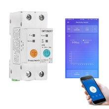 EWelink einphasig din-schiene WIFI Smart Energy Meter leckage schutz remote lesen kWh Meter wattmeter voice control alexa