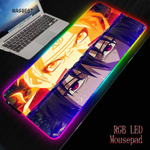 MRGBEST Japan Anime Cartoons RGB Large Non-slip Rubber Mouse Mat LED Backlight XXL Surface Mause Pad Computer Keyboard Desk Mats