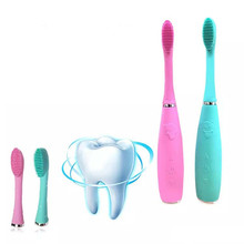 USB Rechargeable Sonic Silicone Electric Toothbrush Brush Dental Head Waterproof Deep Clean Food Grade Teeth Whitening sonic toothbrush birthday gift electric deep clean whitening teeth tooth brush usb charging wireless rechargeable toothbrush