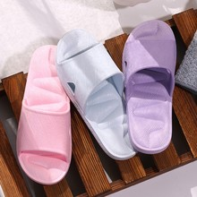 Slippers For Women House Bathroom Slides Couple Indoor Home Hotel Slippers Girl Summer Soft Shoe Shower Simple Tough Shoes 0415 cheap SAGACE Low (1cm-3cm) Fits true to size take your normal size Women s Slippers Basic Rome Solid Flat with Adult Women Girl