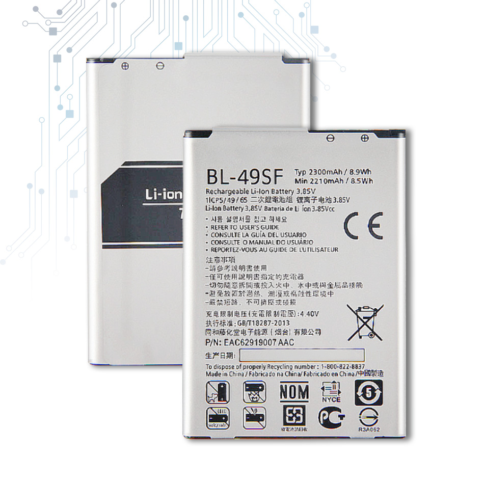 BL-49SF Replacement Battery For LG H735T H525N G4mini G4 Beat G4S H736  BL 49SF BL49SF 2300mAh With Track Code