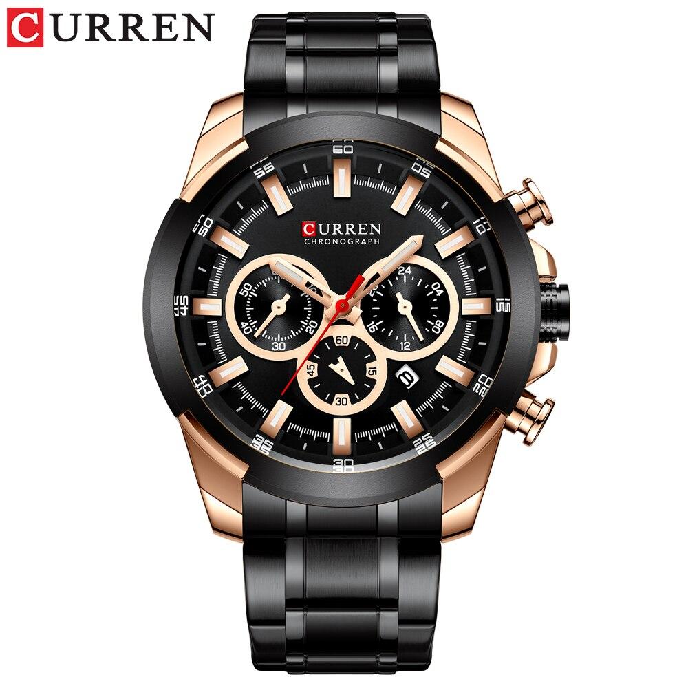 Image 2 - Luxury Sport Quartz Watch Men CURREN Stainless Steel Strap Military Watch Waterproof Gifts For Men Business Relogio MasculinoQuartz Watches   -