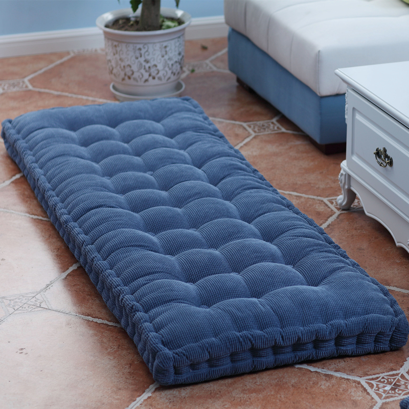 Long Cushion Thickening Garden Chair Cushion Solid Color Home Seat Mat Floor Cushion 55x150/55x165cm Bench Cushion Customizable